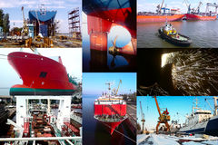 Shipbuilding background Stock Images