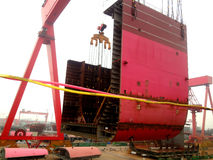 Shipbuilding in China Stock Images