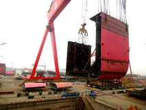 Shipbuilding in China Royalty Free Stock Images