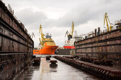 Shipbuilding dock Royalty Free Stock Photo