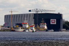 Shipbuilding Facility Royalty Free Stock Images
