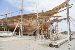 Shipbuilding Oman Royalty Free Stock Photos