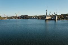 Shipbuilding plant in the city of Nikolaev, Ukraine, the largest Stock Photos