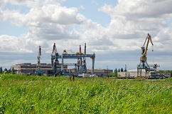 Shipbuilding plant in Kerch Stock Images