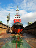 Shipbuilding, ship repair Stock Photos