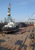 Shipbuilding, ship repair. Shipbuilding. Dok (main sector Stock Photo