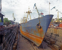 Shipbuilding, ship repair. Shipbuilding. Dok (main sector Royalty Free Stock Photos