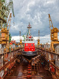 Shipbuilding, ship repair Royalty Free Stock Images