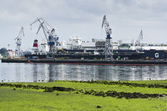 Shipbuilding zone Stock Images