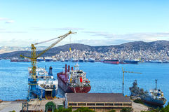 Shipbuilding zone Royalty Free Stock Photo