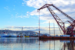 Shipbuilding zone. View of the shipbuilding zone at Salamis island,  Attica - Greece Royalty Free Stock Images