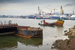 Shipbuilding zone Royalty Free Stock Photos