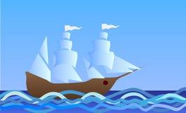 Shipen på havet Arkivfoton