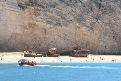 shiphaveri för 2 greece arkivbild