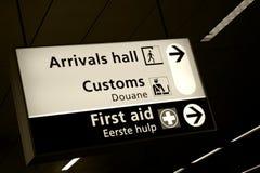 shiphol för flygplatsankomstkorridor arkivfoton