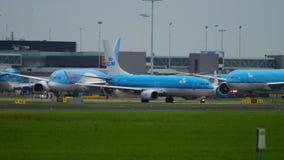 Shiphol lotniskowy ruch drogowy zdjęcie wideo