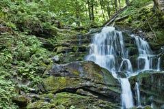 Shipit Shipot - ein Wasserfall in den ukrainischen Karpaten stockfotos