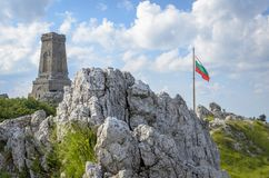 Shipka-Durchlaufmonument Bulgarien stockfotos