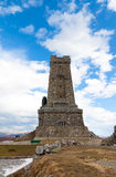 Shipka Memorial. The memorial war on Shipka pass is a tower stone 32 m. high in the form of a truncated pyramid builded to those who died for the Liberation of Stock Photos