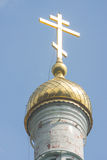 Shipka Monastery cross and dome Royalty Free Stock Photos