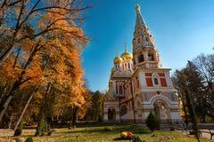 Shipka Pamiątkowy kościół, Bułgaria Zdjęcia Royalty Free