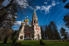 Shipka Pamiątkowy kościół, Bułgaria Fotografia Royalty Free