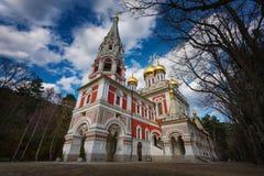 Shipka Pamiątkowy kościół, Bułgaria Obraz Stock