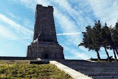 Shipka Pomnikowych schodków Bułgaria wyzwolenia Krajowy wakacje fotografia stock