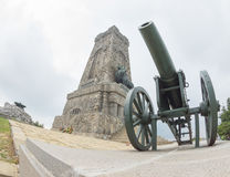 Shipka. Russian artillery in Bulgaria Royalty Free Stock Photography