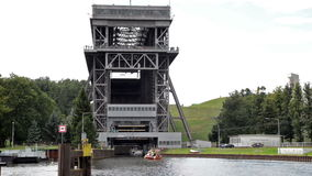Shiplift Eberswalde Finow - Germany stock video footage