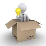 Shipment of a business idea Stock Photos