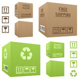 Shipment Cardboard Boxes Set Stock Photo