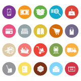 Shipment flat icons on white background Stock Images
