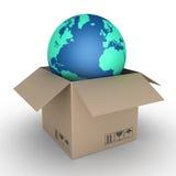 Shipment of globe Royalty Free Stock Photo