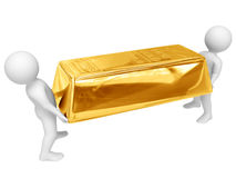 Shipment of gold Stock Photo