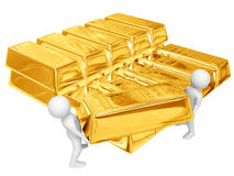 Shipment of gold Stock Photography
