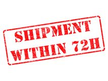 Shipment within 72h on Red Rubber Stamp. Royalty Free Stock Photos