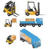 Shipment Icons Stock Image