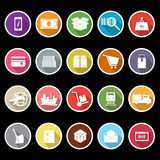 Shipment icons with long shadow Royalty Free Stock Photos