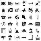 Shipment icons set, simple style. Shipment icons set. Simple set of 36 shipment vector icons for web isolated on white background Stock Photo