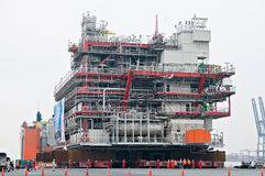 Shipment of oil rig module from Thailand to Norway Royalty Free Stock Images