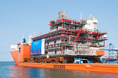 Shipment of oil rig module from Thailand to Norway Royalty Free Stock Image