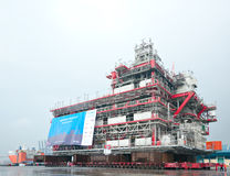 Shipment of oil rig module from Thailand to Norway Stock Photography