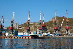 Shipment Pier (stage) In Russian Seaport. Stock Image