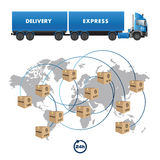 Shipment service Royalty Free Stock Photos