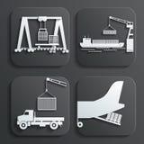 Shipment set vector vector illustration
