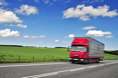 Shipment shipping truck Stock Images