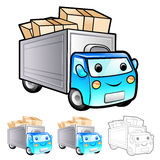Shipment truck Illustration. Product and Distribution System Des Royalty Free Stock Image