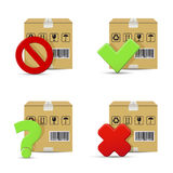 Shipment vector icons Royalty Free Stock Photography