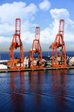 Shippig cranes Royalty Free Stock Image